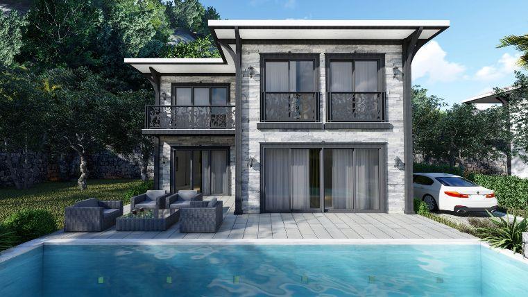 Akyaka'ya 10 dk mesafede Havuzlu Lüks Satılık Villa